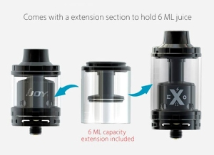 authentic-ijoy-exo-rta-rebuildable-tank-atomizer-black-stainless-steel-glass-20ml-26mm-diameter